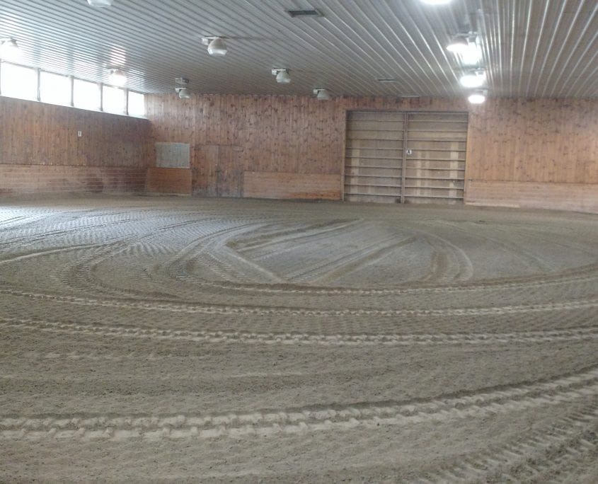 Indoor horse track repair service we did in rochester nh