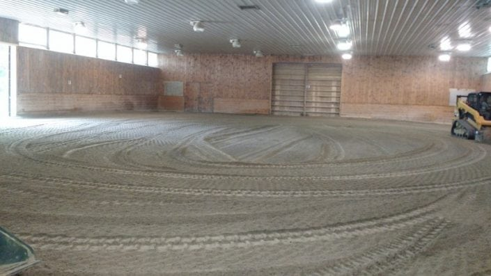 Here is a horse arena grading job we did in Rochester NH.