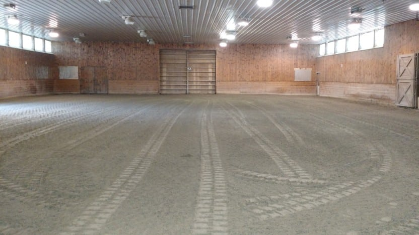 Here is another photo of a horse arena grading job we performed in Rochester NH.