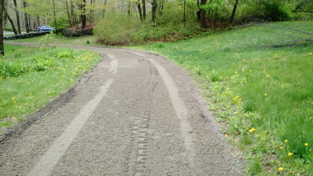 Here's another picture of driveway grading in Rochester.