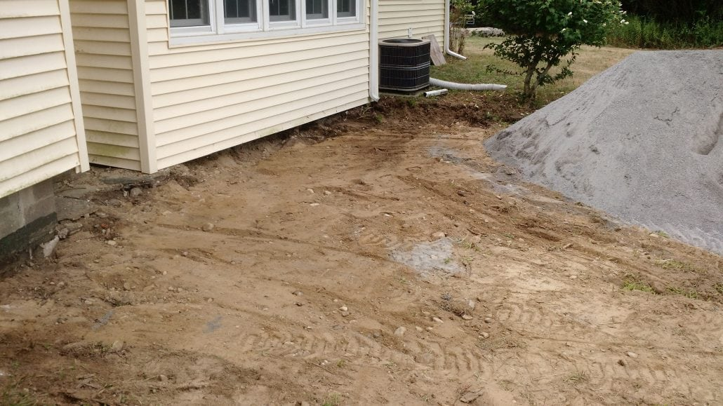 After we had removed stones from our stone patio installation project.